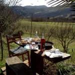 La nostra casa a Montepetra merenda al sole